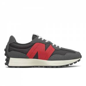 New Balance 327 Men's Lifestyle Shoes - Grey / Red (MS327FF)