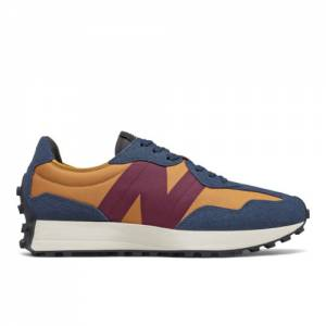 New Balance 327 Men's Lifestyle Shoes - Navy / Orange (MS327TA)