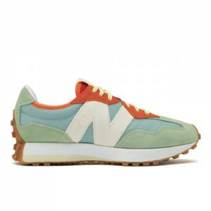 New Balance Unisex 327 Lifestyle Shoes - Blue / Green (MS327TSB)