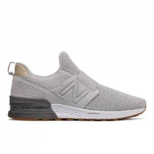New Balance Slip-On 574 Sport Decon Men's Sport Style Shoes - Grey (MS574DSG)