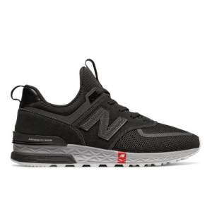 New Balance 574 Sport Men's Sport Style Shoes - Black (MS574UTB)