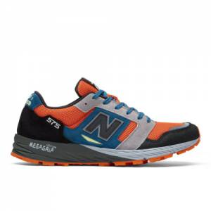 New Balance Made in UK 575 Men's Lifestyle Shoes - Black / Orange (MTL575OP)