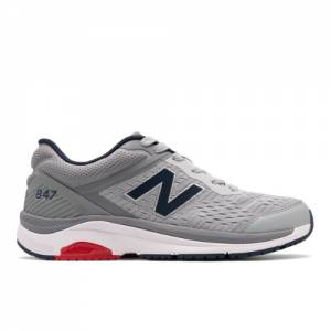 New Balance 847v4 Men's Walking Shoes - Silver / Grey (MW847LG4)