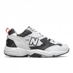 New Balance 608v1 Men's Everyday Trainers Shoes - White / Black (MX608RB1)