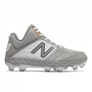 New Balance Fresh Foam 3000v4 Mid-Cut TPU Men's Mid-Cut Cleats Shoes - Grey (PM3000G4)