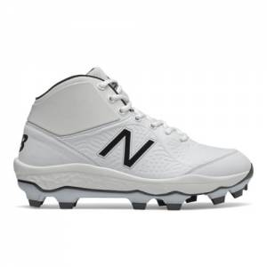 New Balance Fresh Foam 3000v5 Mid-Cut TPU Cleats Men's Baseball Shoes - White (PM3000W5)