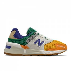 New Balance 997 Sport Kids' Pre-School Lifestyle Shoes - Orange / Blue (PS997JHX)