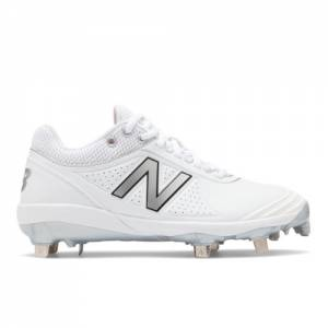 New Balance Fuse v2 Low Cut Metal Women's Softball Shoes - White (SMFUSEW2)