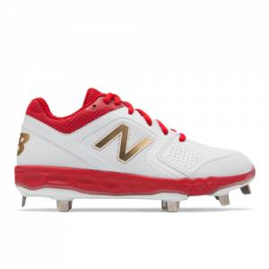 New Balance Fresh Foam Velo1 Women's Softball Shoes - Red / White (SMVELOR1)