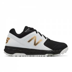 New Balance Fresh Foam Turf Velo1 Women's Softball Shoes - Black / White (STVELOK1)