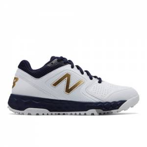 New Balance Velo1 Women's Softball Shoes - Navy / White (STVELON1)