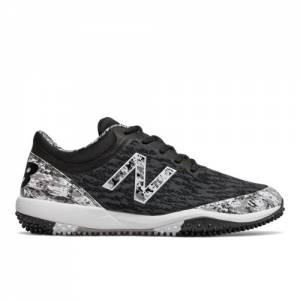 New Balance 4040v5 Pedroia Turf Men's Baseball Shoes - Black (T4040PK5)