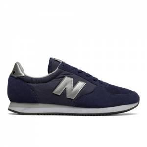 New Balance 220 Men's & Women's Running Classics Shoes - Navy / Silver (U220NS)