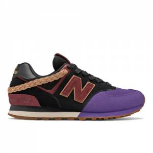 New Balance 574 Lifestyle Unisex Shoes - Black (U574LEV)