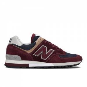 New Balance 576 Made in UK Men's Shoes - Maroon (OM576OBN)