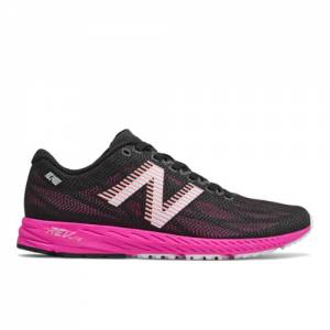 New Balance 1400v6 Women's Racing Flats Running Shoes - Black / Pink (W1400RP6)