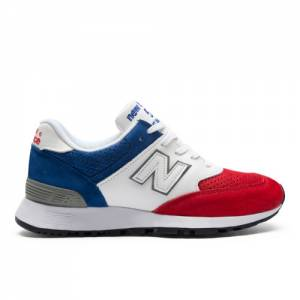 New Balance 576 Made in UK Women's Shoes - Red / Blue / White (W576RBW)