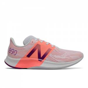 New Balance FuelCell 890v8 Women's Running Shoes - Grey / Pink (W890SP8)