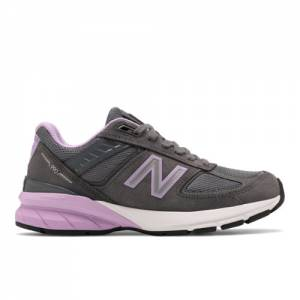 New Balance Made IN USA 990v5 Women's Lifestyle Shoes - Grey / Violet (W990DV5)