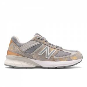 New Balance Made in USA 990v5 Women's Lifestyle Shoes - Grey / Silver (W990MB5)