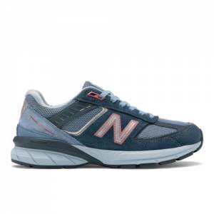 New Balance Made in USA 990v5 Women's Lifestyle Shoes - Blue (W990OL5)