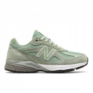 New Balance 990v4 Made in US Women's Made in USA Shoes - Green (W990SM4)