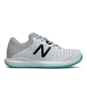 New Balance 696v4 Women's Tennis Shoes - White / Grey / Blue (WCH696D4)