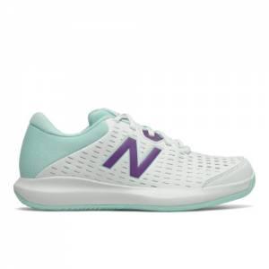 New Balance 696v4 Women's Tennis Shoes - White (WCH696M4)
