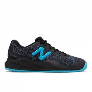New Balance 996v3 Women's Tennis Shoes - Black / Blue (WCH996X3)