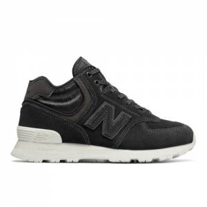 New Balance 574 Mid Women's Shoes - Black (WH574BB)