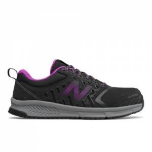 New Balance 412 Alloy Toe Women's Work Shoes - Black / Purple (WID412P1)