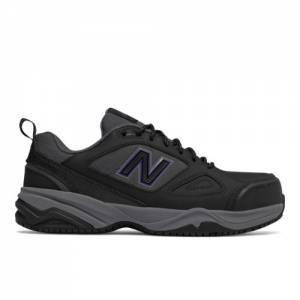 New Balance Steel Toe 627v2 Leather Women's Work Shoes - Black / Purple (WID627R2)