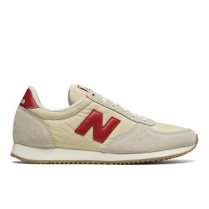 New Balance 220 Women's Sneakers Shoes - Off White / Red (WL220BG)