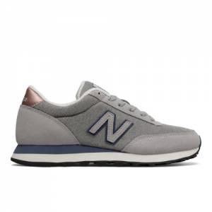 New Balance 501 Women's Running Classics Sneakers Shoes - Grey / Navy (WL501DCW)
