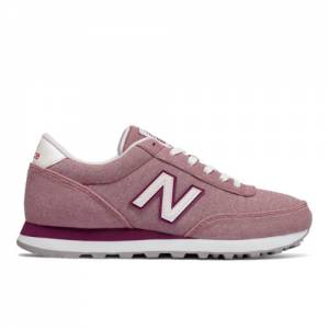 New Balance 501 Textile Women's Running Classics Shoes - Dusted Peach (WL501FIU)