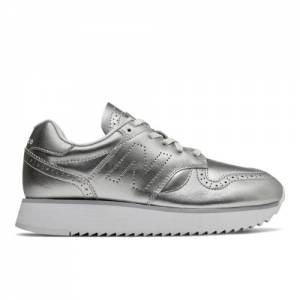 New Balance 520 Platform Women's Running Classics Shoes - Metallic Silver (WL520ME)