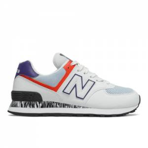New Balance 574 Women's Lifestyle Shoes - White (WL574CS2)