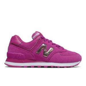 New Balance 574 Women's Lifestyle Shoes - Pink (WL574EDA)