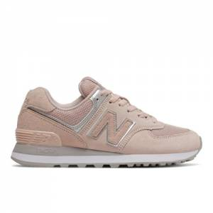 New Balance 574 Women's Lifestyle Shoes - Pink (WL574EQ)