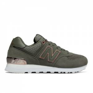 New Balance 574 All Day Rose Women's Sneakers Shoes - Olive Green (WL574FSD)