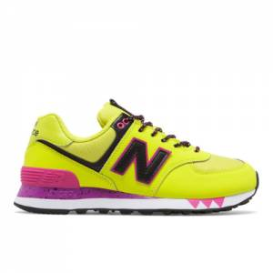 New Balance 574 Women's Shoes - Yellow (WL574JOC)