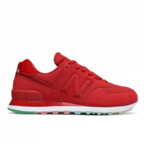 New Balance 574 Women's Running Classics Shoes - Red (WL574JUA)