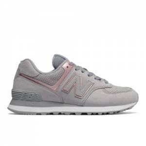 New Balance 574 Nubuck Women's Shoes - Grey (WL574NBN)