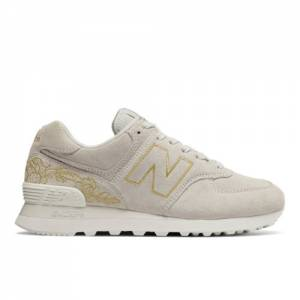 New Balance 574 Floral Women's Shoes - Off White (WL574NGA)