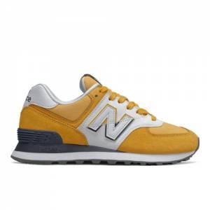 New Balance 574 Split Sail Women's Running Classics Shoes - Yellow (WL574NJD)