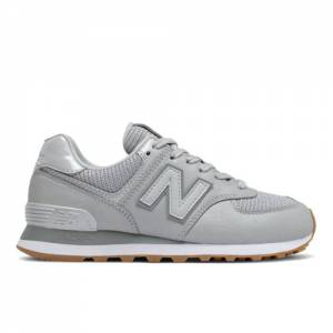 New Balance 574 Women's Running Classics Shoes - Silver (WL574PMA)