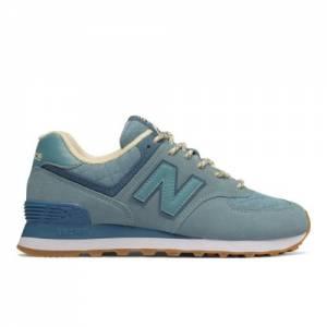 New Balance 574 Winter Quilt Women's Shoes - Blue (WL574RBA)