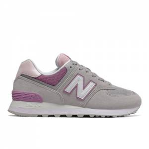 New Balance 574 Women's Lifestyle Shoes - Grey / Purple (WL574SAL)