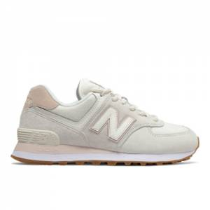 New Balance 574 Women's Running Classics Shoes - Off White (WL574SAY)