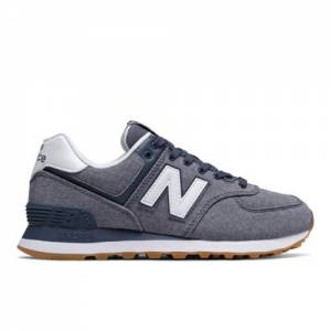 New Balance 574 Gingham Women's Shoes - Vintage Indigo (WL574SKA)